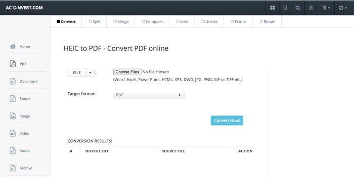 Chuyển đổi HEIC sang PDF