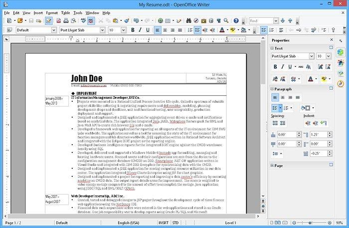 Éditeur PDF open source Apache OpenOffice