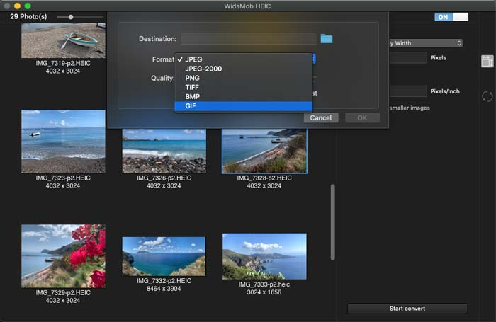 Konverter HEIC til JPEG WidsMob