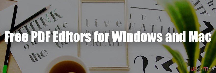 Free PDF Editors for Windows and Mac