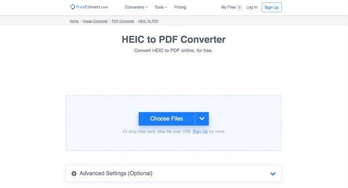 Chuyển đổi miễn phí HEIC sang PDF