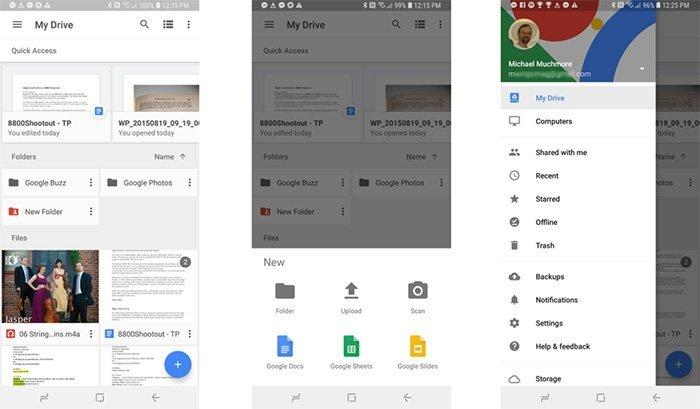 Sådan redigeres et dokument i Google Drive-appen