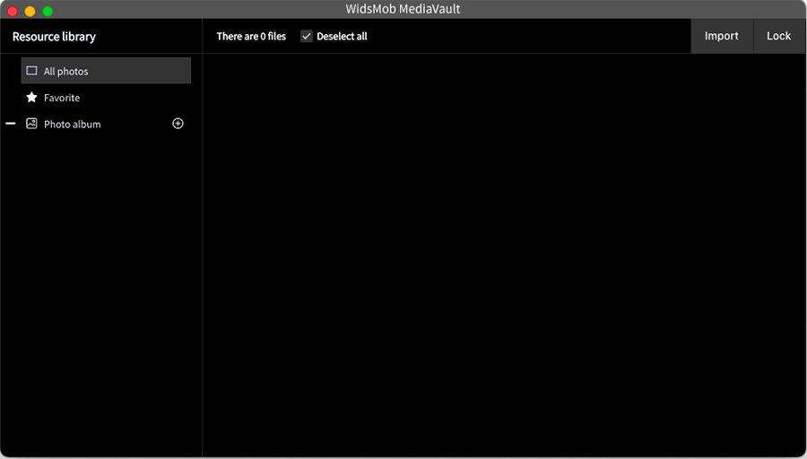 Main Interface MediaVault
