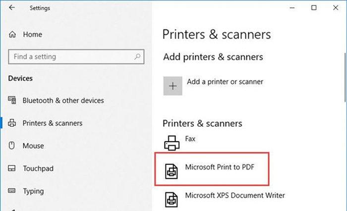 マイクロソフトからPDFへの印刷