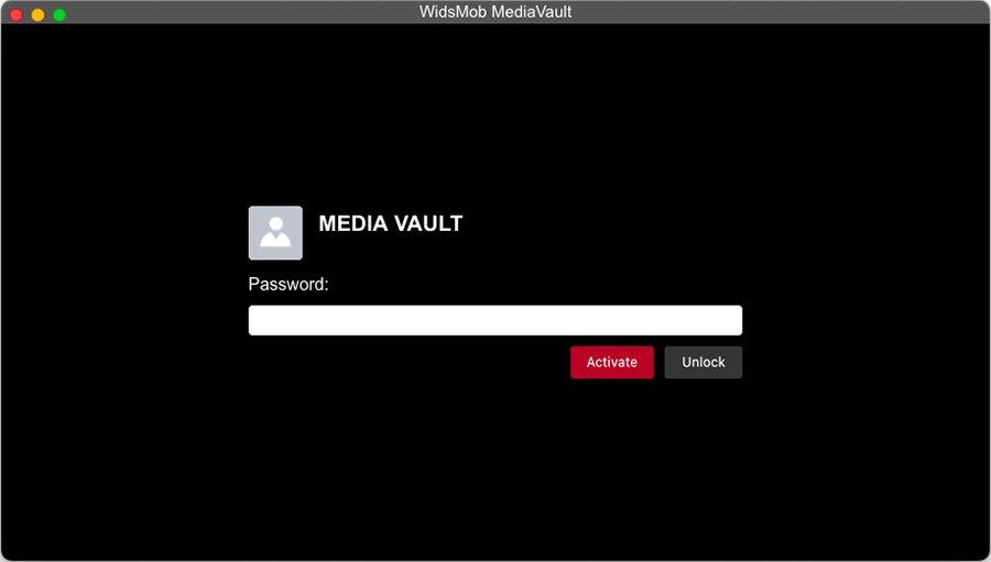 Password Setting MediaVault