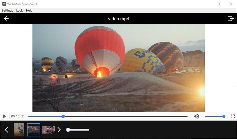Play Video MediaVault Win