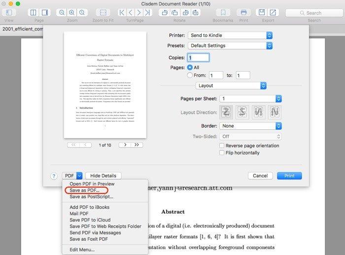 PDFMacに印刷