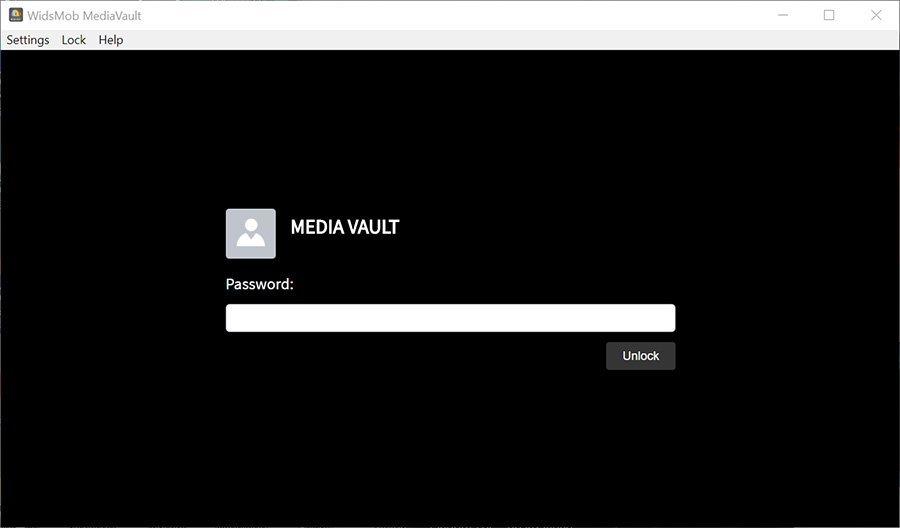 Set Password MediaVault Win