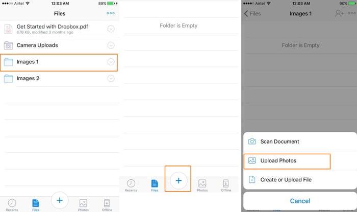 Breng iPhone-foto's over naar Dropbox
