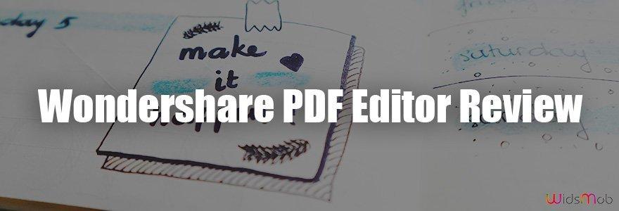 Examen de l'éditeur de PDF Wondershare