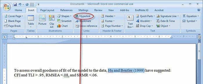 Ajouter un lien hypertexte à Word