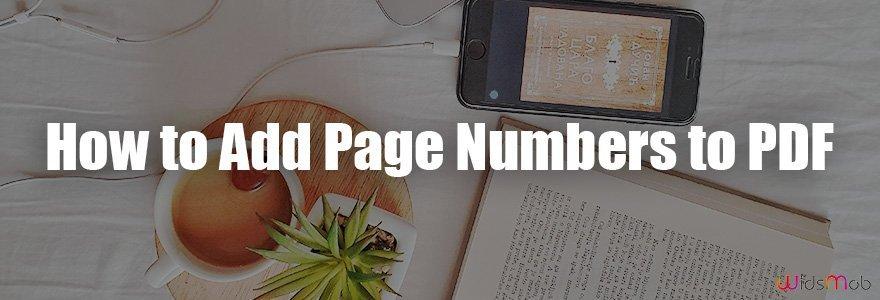 如何將頁碼添加到 PDF