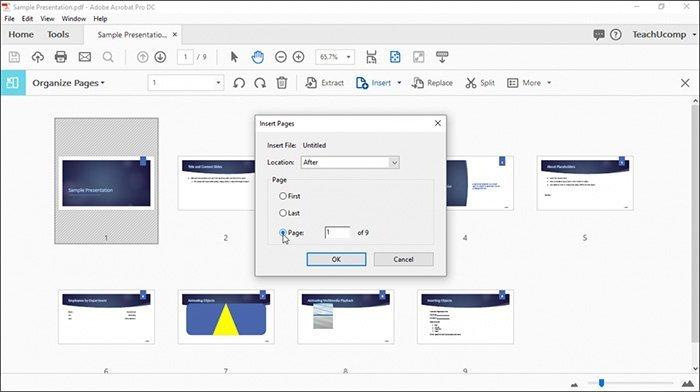 Ajouter des pages dans Adobe