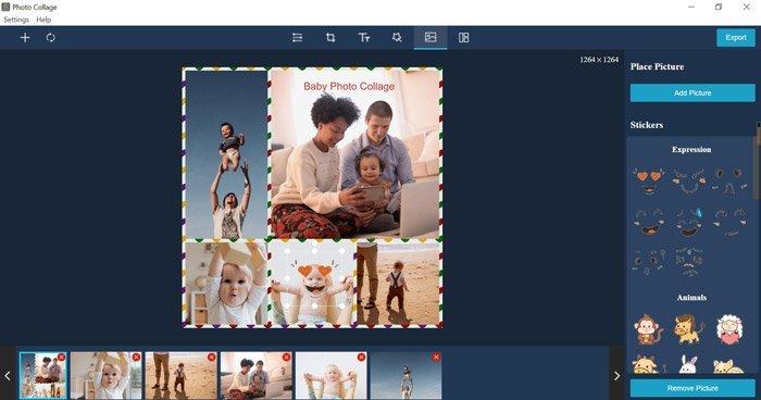 Ajouter un collage d'autocollants