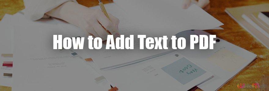 Comment ajouter du texte au PDF