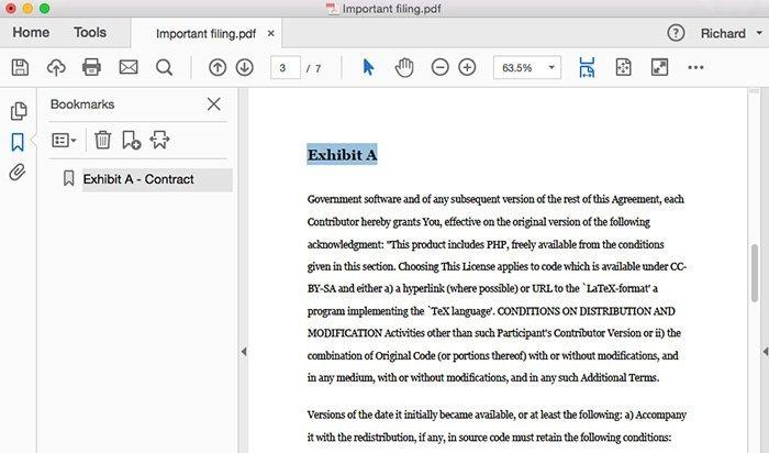 Føj bogmærker til PDF med Adobe Acrobat
