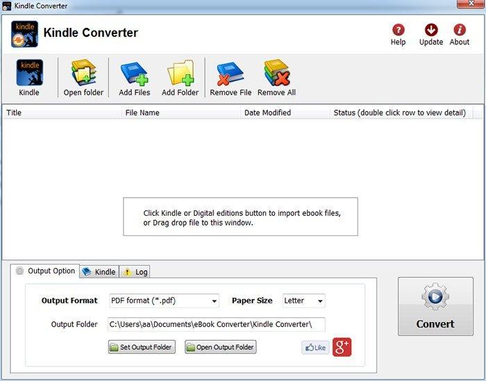 Convertisseur Kindle