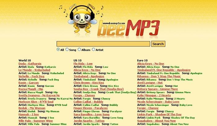 Last ned musikk fra BeeMP3