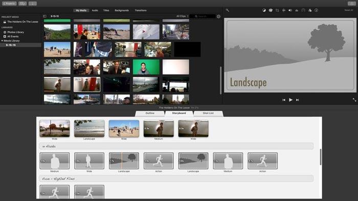 Diaporama de mariage iMovie