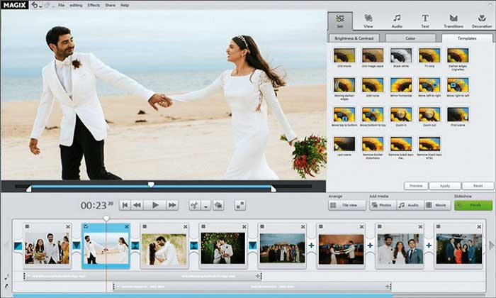 Diaporama de mariage Magix Photostory