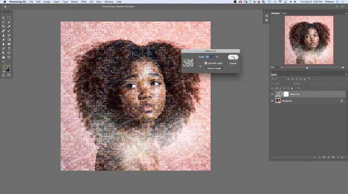Faire une affiche de mosaïque de photos