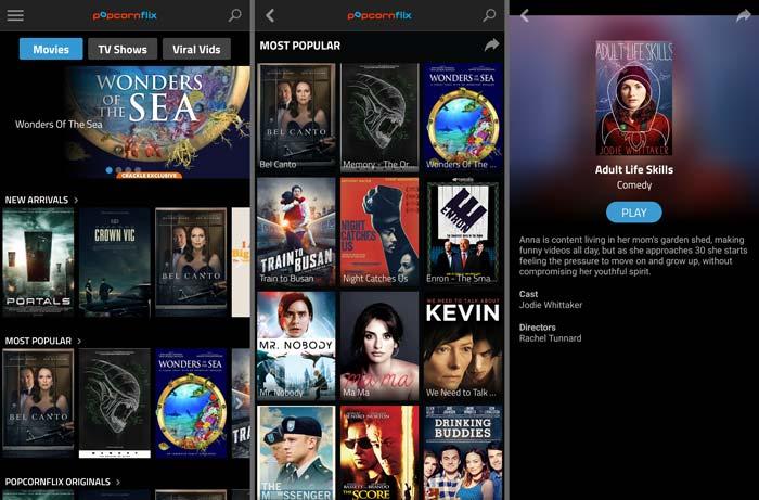 Aplikasi Film Gratis Popcornflix
