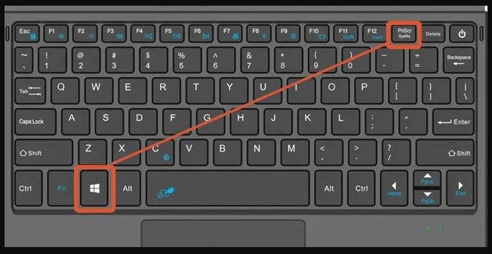 Capture d'écran du clavier Dell