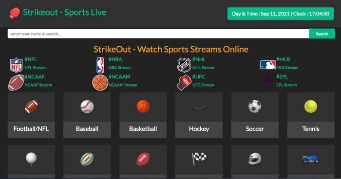 Strikeout Sport Live